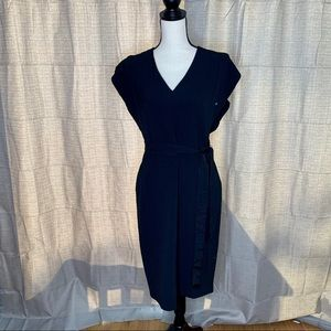 Eliza J black Faux Wrap Dress